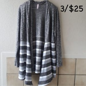 j mode Sweaters - J mode open hang waterfall cardigan large
